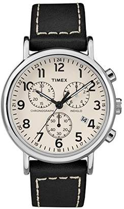 Timex Men's TW2R42800 Weekender Chrono Two-Piece Leather Strap Watch