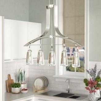 Brayden Studio Omeara 5 - Light Kitchen Island Linear Pendant
