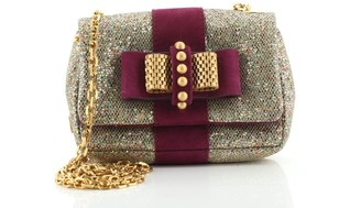 Christian Louboutin Sweet Charity Crossbody Bag Glitter Leather Mini