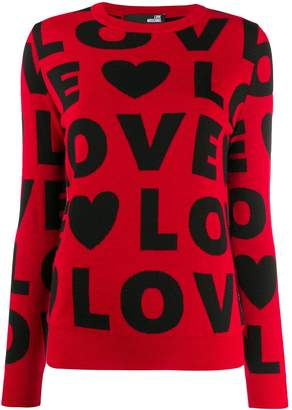 Love Moschino patterned 'Love' jumper