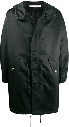Givenchy Hooded Mid-Length Raincoat