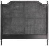 French Provincial Marseille Rattan Headboard Size: Queen, Finish: Distressed Black