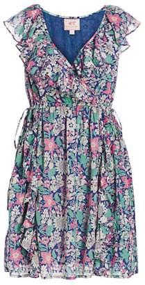 Banjanan Sylvie Floral Ruffled Dress