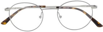 Calvin Klein Round-Frame Tortoiseshell Glasses