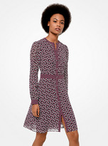 Michael Kors Geometric-Print Georgette Shirtdress