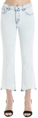 J Brand Cropped Flared Skinny Jeans