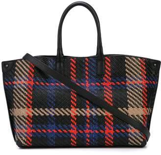 Akris woven plaid shoulder bag