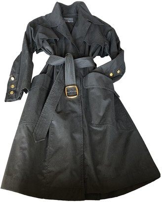 Chanel Black Cotton Trench Coat for Women Vintage
