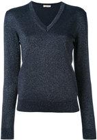 Nina Ricci metallic thread sweater - women - Polyester/Cupro/Wool/Metallized Polyester - S