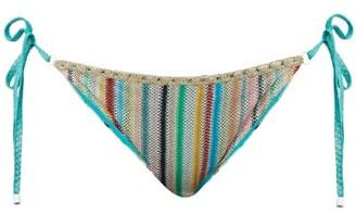 Missoni Mare - Striped Knitted-mesh Briefs - Womens - Multi