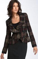 DKNYC Plaid Ruffle Jacket
