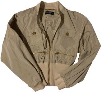 Dolce & Gabbana Beige Leather Jacket for Women