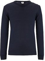 Kin By John Lewis Made In Italy Merino Blend Button Neck Jumper