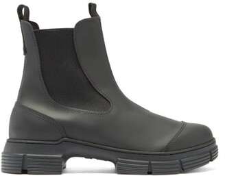 Ganni Chunky Recycled-rubber Chelsea Boots - Black