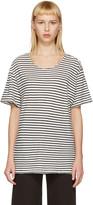 R 13 Black & White Striped Rosie T-Shirt