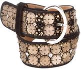 Oscar de la Renta Suede Jeweled-Embellished Belts