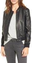 BB Dakota Braver Faux Leather Bomber Jacket