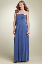 Maternity Strapless Maxi Dress