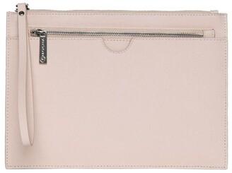 Mocha Jane Double Leather Clutch - Blush