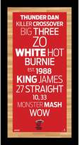"""Steiner Sports Miami Heat 19"""" x 9.5"""" Vintage Subway Sign"""