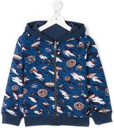 Paul Smith UFO print hoodie - kids - Cotton/Spandex/Elastane - 3 yrs