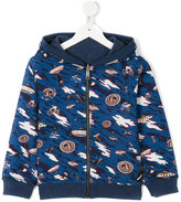 Paul Smith UFO print hoodie - kids - Cotton/Spandex/Elastane - 6 yrs