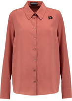 Rochas Appliquéd Silk Shirt