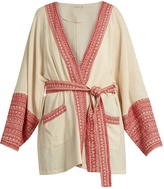 Mes Demoiselles Gwen embroidered-trim cotton jacket