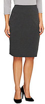 As Is Liz Claiborne New York Petite Ponte Knit Straight Skirt