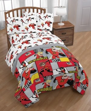 Disney Pixar The Incredibles 2 Super Family 4-Pc. Twin Bed in a Bag Bedding