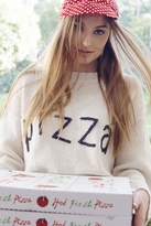 Wildfox Couture Simply Pizza Dinner Party Sweater in Vintage Lace