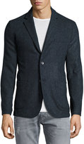 Neiman Marcus Modern-Fit Two-Button Sport Coat, Moonlight