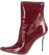 Stuart Weitzman Patent Leather Chainup Boots