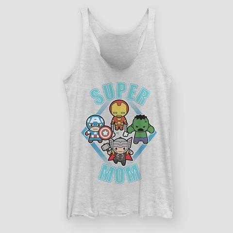 Marvel Women's Avengers Super Mom Dudes Tank Top (Juniors') - White