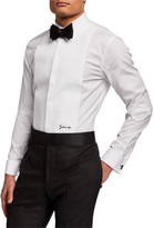 Givenchy Men's Classic Plastron Shirt With Logo