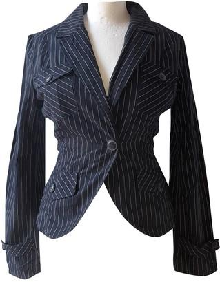 MANGO Navy Cotton Jacket for Women