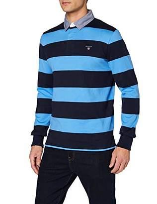 Gant Men's Original Barstripe Heavy Rugger Polo Shirt,M