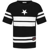 Gianfranco Ferre GF FerreBoys Black Star & Stripe Print Top