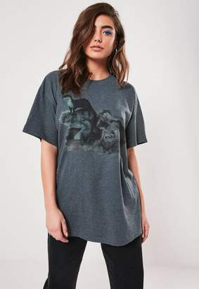 Missguided Gray Otter Graphic T Shirt