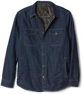 Gap Quilted denim shirt jacket