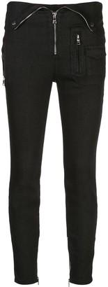 RtA Diavolina fold-over waist jeans