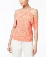 Thalia Sodi Ruffled Cold-Shoulder Top, Only at Macy's