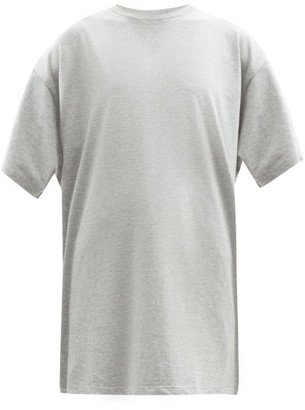 Raey Long-line Heavy Cotton-jersey T-shirt - Grey Marl