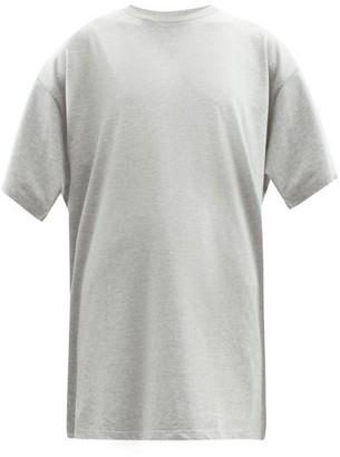 Raey Long Line Heavy Cotton Jersey T Shirt - Womens - Grey