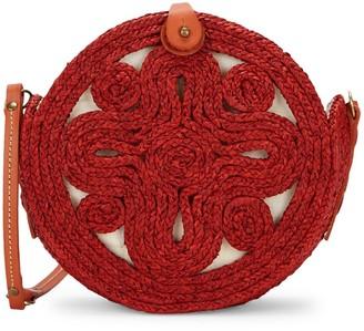Sans Arcidet Straw Small Sika Raffia Shoulder Bag