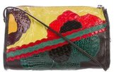 Carlos Falchi Multicolor Snakeskin-Trimmed Crossbody