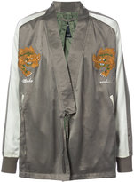 MHI tiger embroidered kimono jacket - men - Silk - S