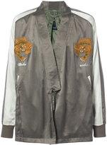 MHI tiger embroidered kimono jacket - men - Silk - S