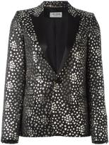 Saint Laurent star jacquard blazer - women - Silk/Cotton/Polyester/Metallized Polyester - 38