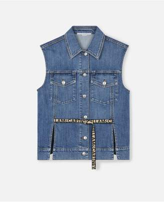 Stella McCartney Stella Logo Denim Vest